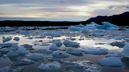Iceberg Lagoon in Iceland Footage