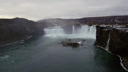 Godafoss Falls in Iceland Footage