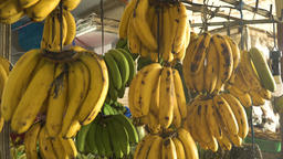 Bananas in the fruit market Footage
