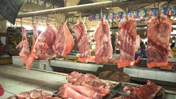 Meat on the market Footage
