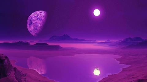 Sunrise On An Alien Planet Animation