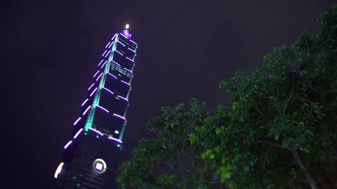 Taipei 101 Building in Taiwan Live Action