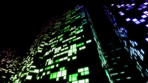 Skyscraper 2 Db6 night2 4K Animation