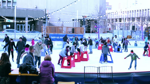 Public ice skating Live Action