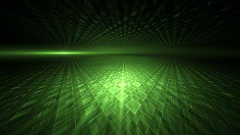 Dynamic Green Translucent Cubical Horizon Animation