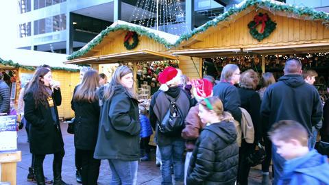 Christmas market Footage