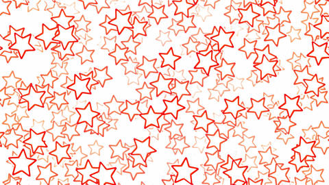 Falling Star Shapes Animation - Loop Red Animation