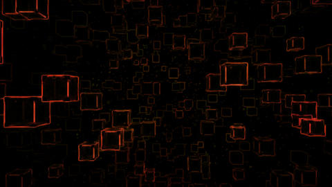 Abstract Sketchy Moving Blocks Background - Loop Red Animation