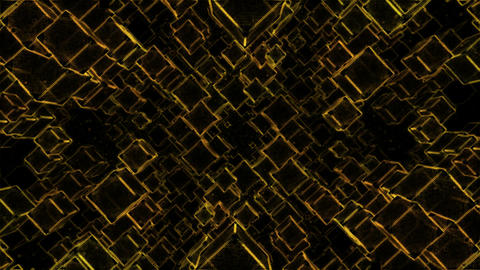 Abstract Sketchy Moving Blocks Background - Loop Yellow Animation