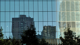 New York City 439 Lower Manhattan financial district mirror image of building Footage