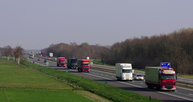 Netherlands Highway Trucks And Cars For Transport Europe, Zoom stock footage