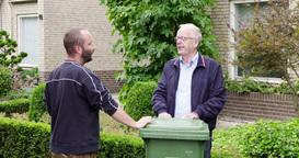 Men Neighbors Social Talk Neighborhood Europe stock footage