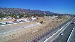 Freeway under construction Footage