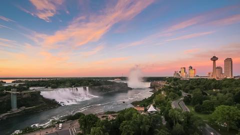 Niagara Falls at Sunrise Footage