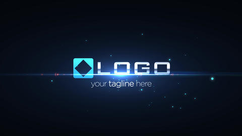Simple Elegant Dark Light Streak and Particles Logo Sting Animation After Effects Template