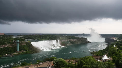 Dark Clouds over Niagara Falls Live Action