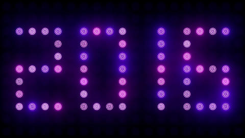 2016 New Year Text Led Lights Animación