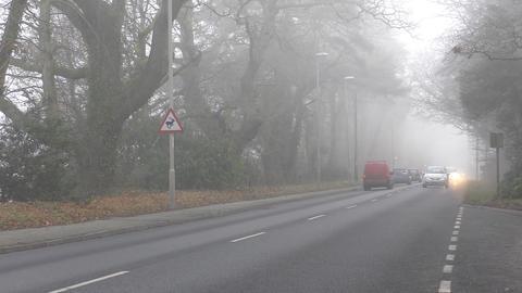 Fog on the road Footage