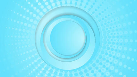 Cyan blue circles and halftone beams video animation Animation