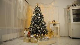 Decorated christmas tree Footage