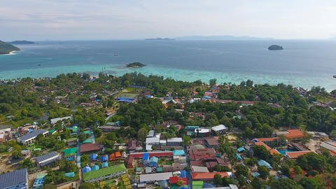 Aerial panorama of Ko Lipe island in Thailand Footage