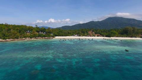 Aerial view on tropical Ko Lipe island in Thailand Footage