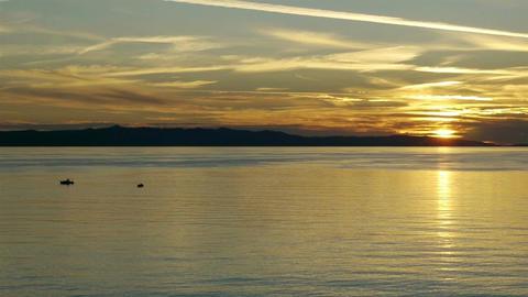 Calm sunset on Adriatic coast Footage