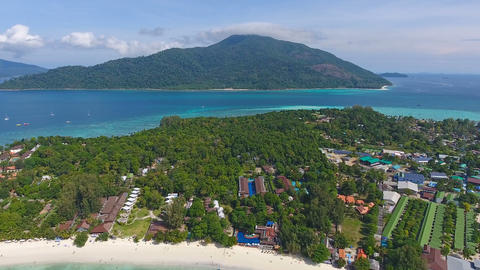Aerial view on Ko Lipe and Ko Adang islands Footage