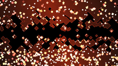 Abstract Square Shapes Background Animation - Loop Red Animation
