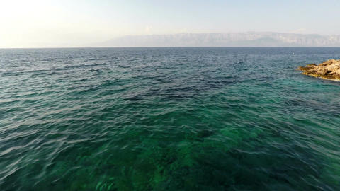 Blue Adriatic sea landscape Footage