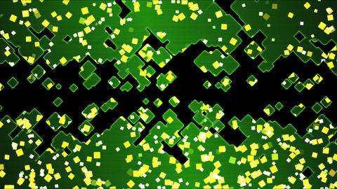Abstract Square Shapes Background Animation - Loop Green Animation