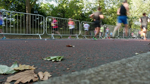 Marathon run time lapse Image