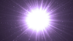 Abstract Violet Background With Rays Sparkles Animation