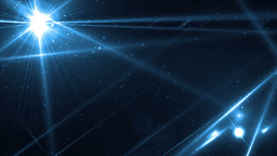 Abstract Blue Background With Rays Sparkles Animation