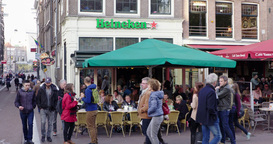 Amsterdam Cafe, Netherlands stock footage