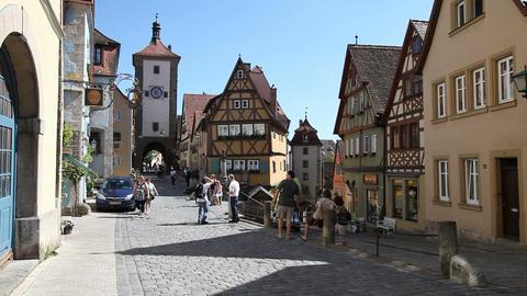 Rothenburg ob der Tauber, Germany Footage