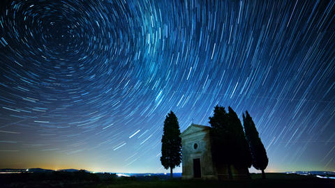 Fabulous Starry Sky. Time Lapse 4K Footage