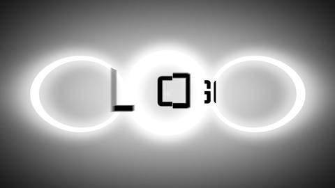 Glowing Slide Circle Logo Reveal After Effects Template