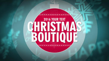 Christmas boutique After Effects Project