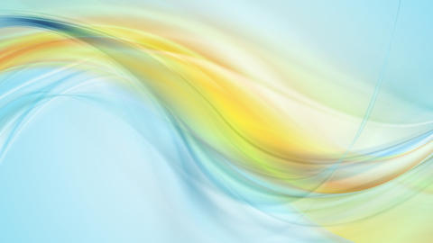 Blue yellow smooth flowing waves video animation Animation