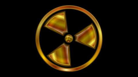 Radioactive symbol video animation. Seamless loop Animation