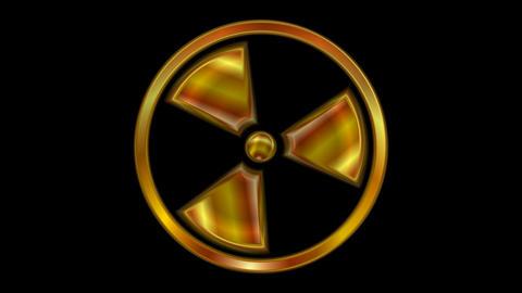 Radioactive symbol video animation. Seamless loop Animation