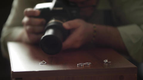 Photographer takes pictures on an engagement ring 201 Footage