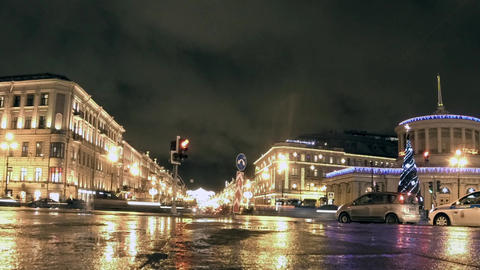 St. Petersburg cityscape time lapse Footage