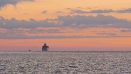 Cruise ship leaving port into sea Footage