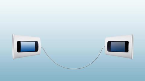 Telecommunication Concept Background 실사 촬영