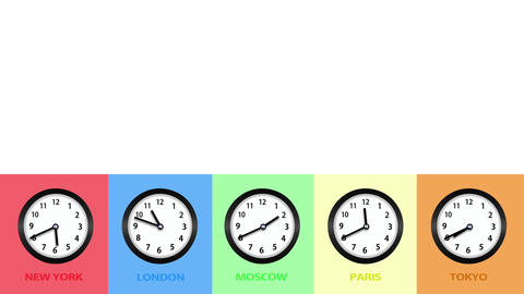 Clock and Time Concept Background Footage