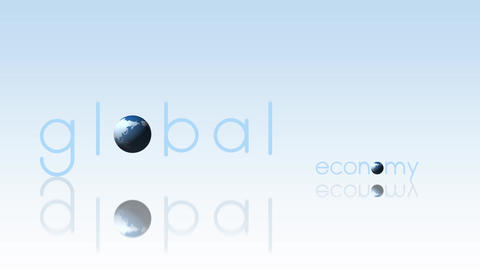 Global Economy Concept Background Footage