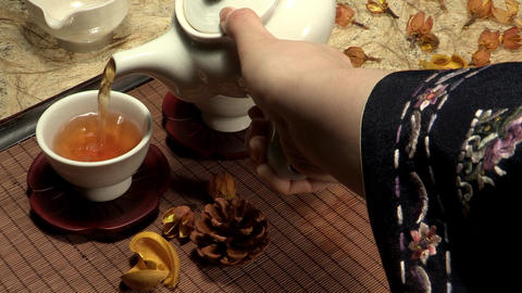 Korean Traditional Tea Concept Props ภาพวิดีโอ
