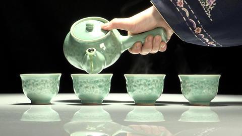 Korean Traditional Tea Concept Props ภาพวิดีโอ